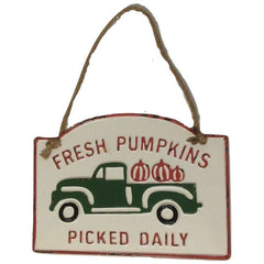 Farmhouse FRESH PUMPKINS PICKED DAILY Embossed Sign
