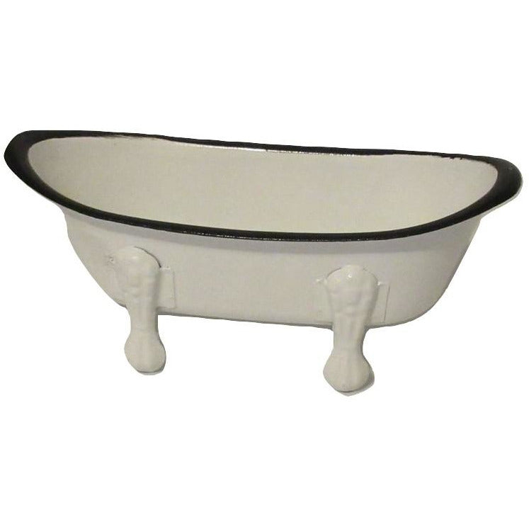 Metal Rustic Enamel Bathtub Themed Soap Dish