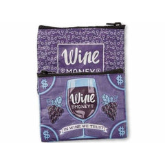 Wristlet Wallet WINE MONEY IN WINE WE TRUST Card Coin Holder - Wristlet
