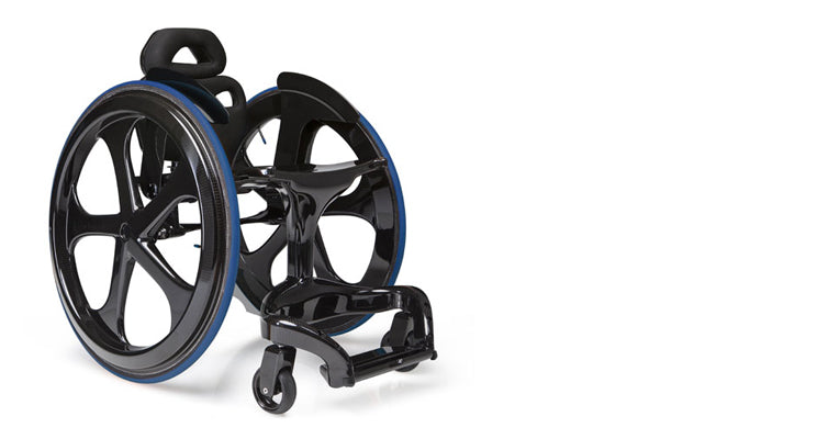 Carbon Black II wheelchair, at Pyxis, Edinburgh, Scotland, UK