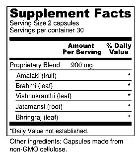 Elanveda Healthy Hair herbal supplement nutrition facts