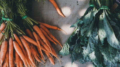 carrots and greens