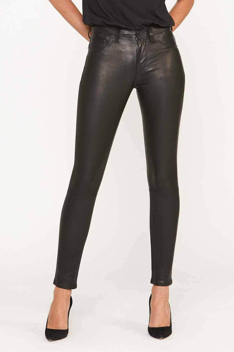 Nico Mid-Rise Super Skinny Leather Pant