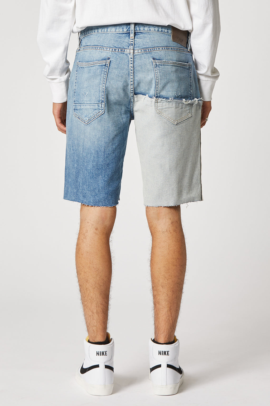 Reconstructed Cut-Off Denim Short