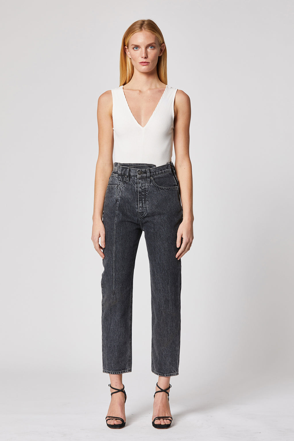 Elly Folded Crop Jean