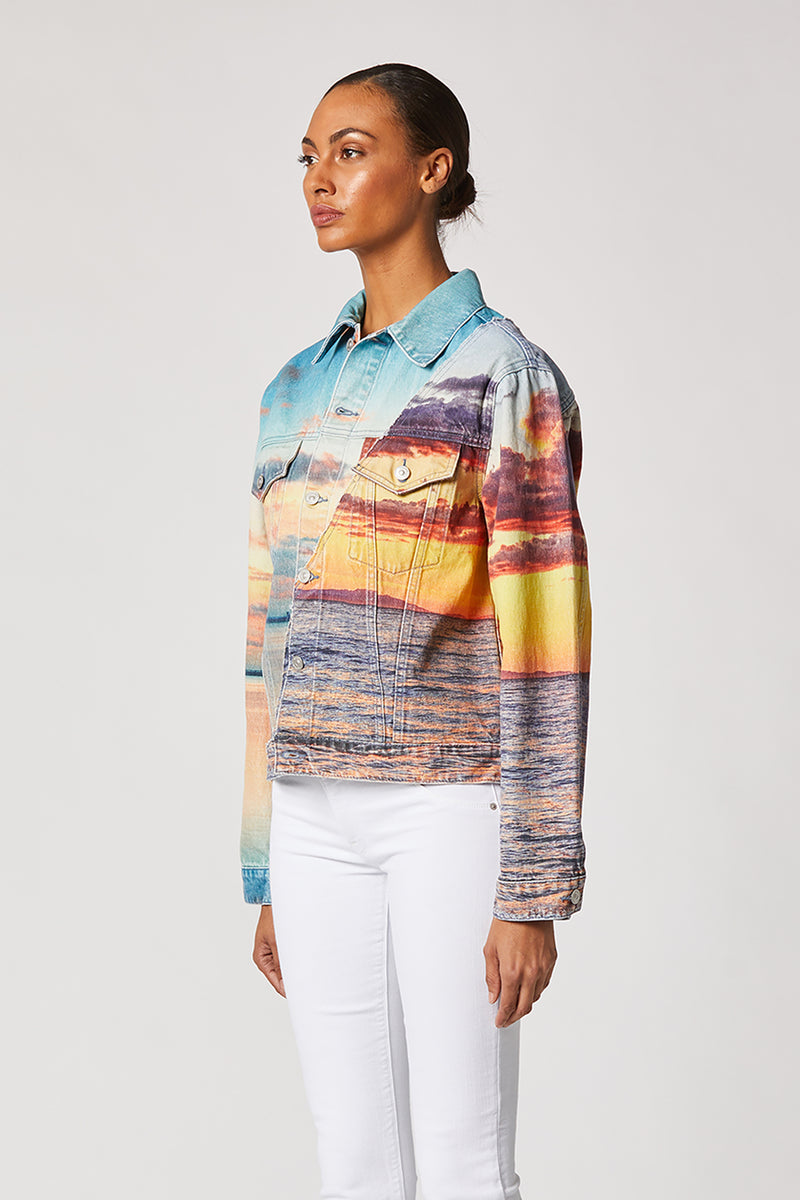 Landscape Oversized Trucker Jacket