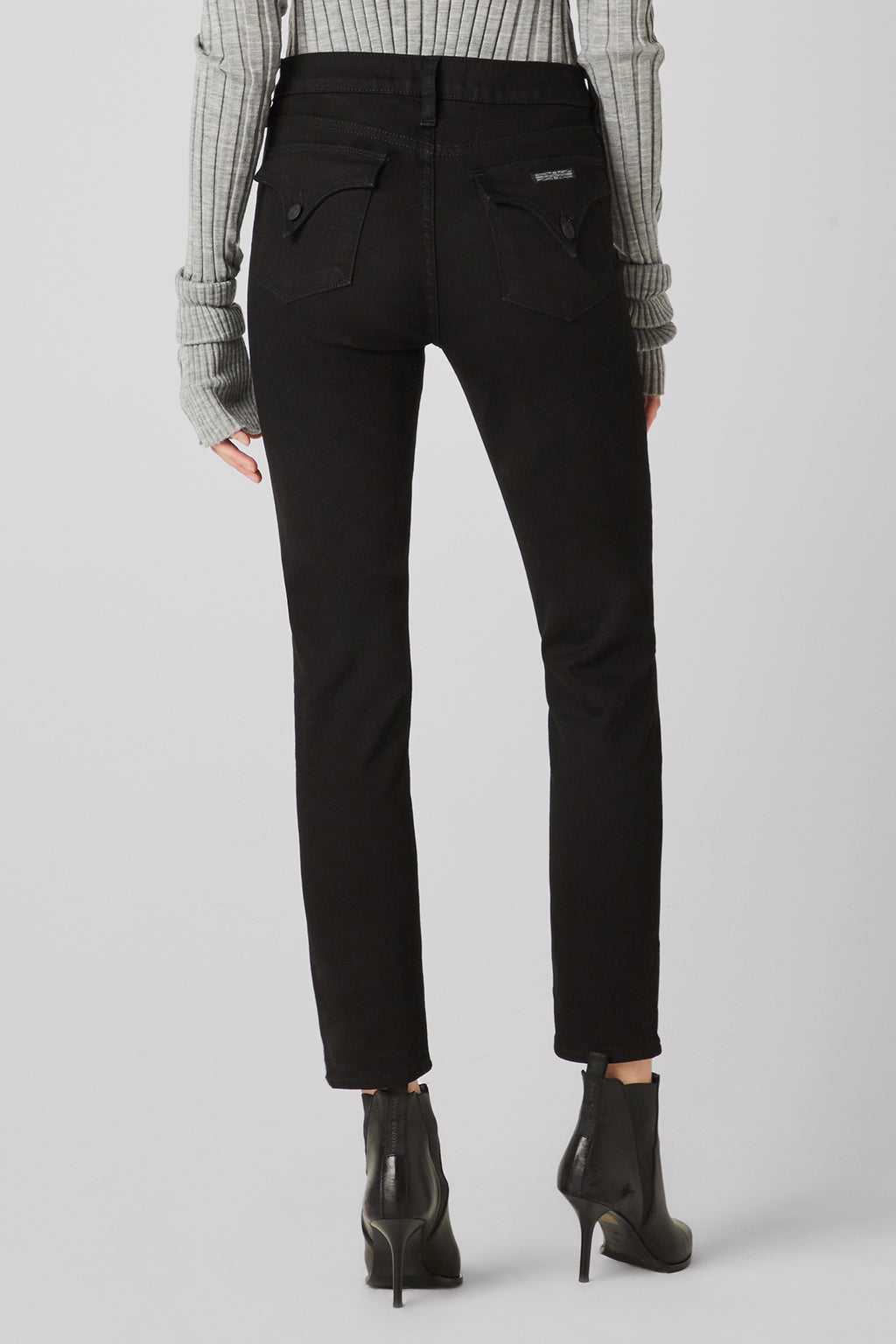 Barbara High-Rise Super Skinny Flap Ankle Jean