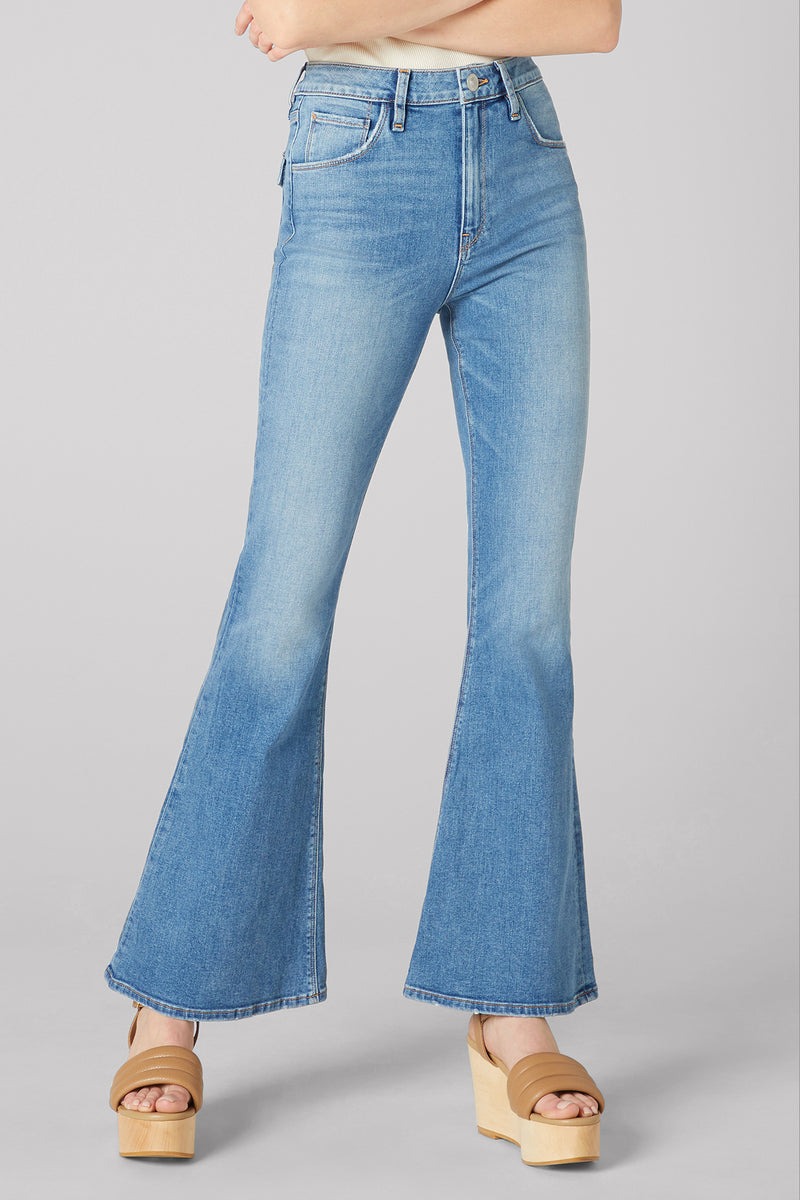 Holly High-Rise Flare Flap Jean