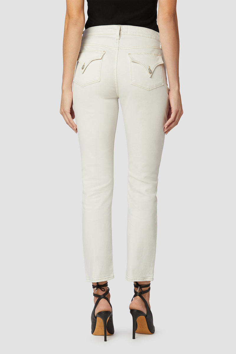 High-Rise Straight Flap Jean