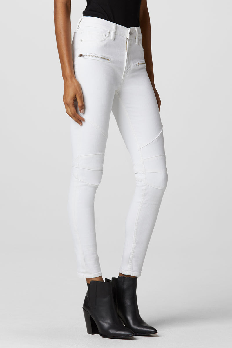 Barbara High-Rise Super Skinny Moto Jean