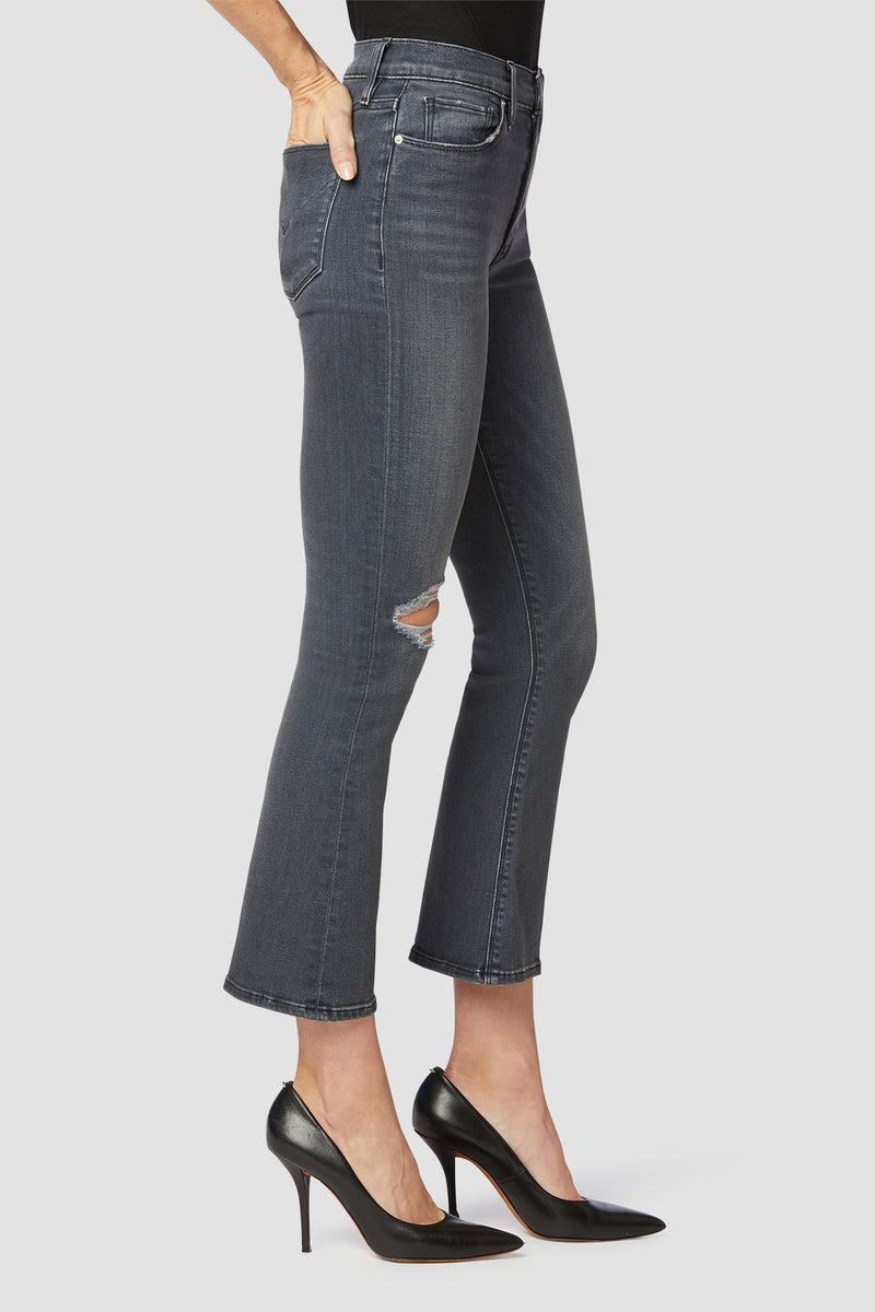 Barbara High-Rise Bootcut Crop Jean