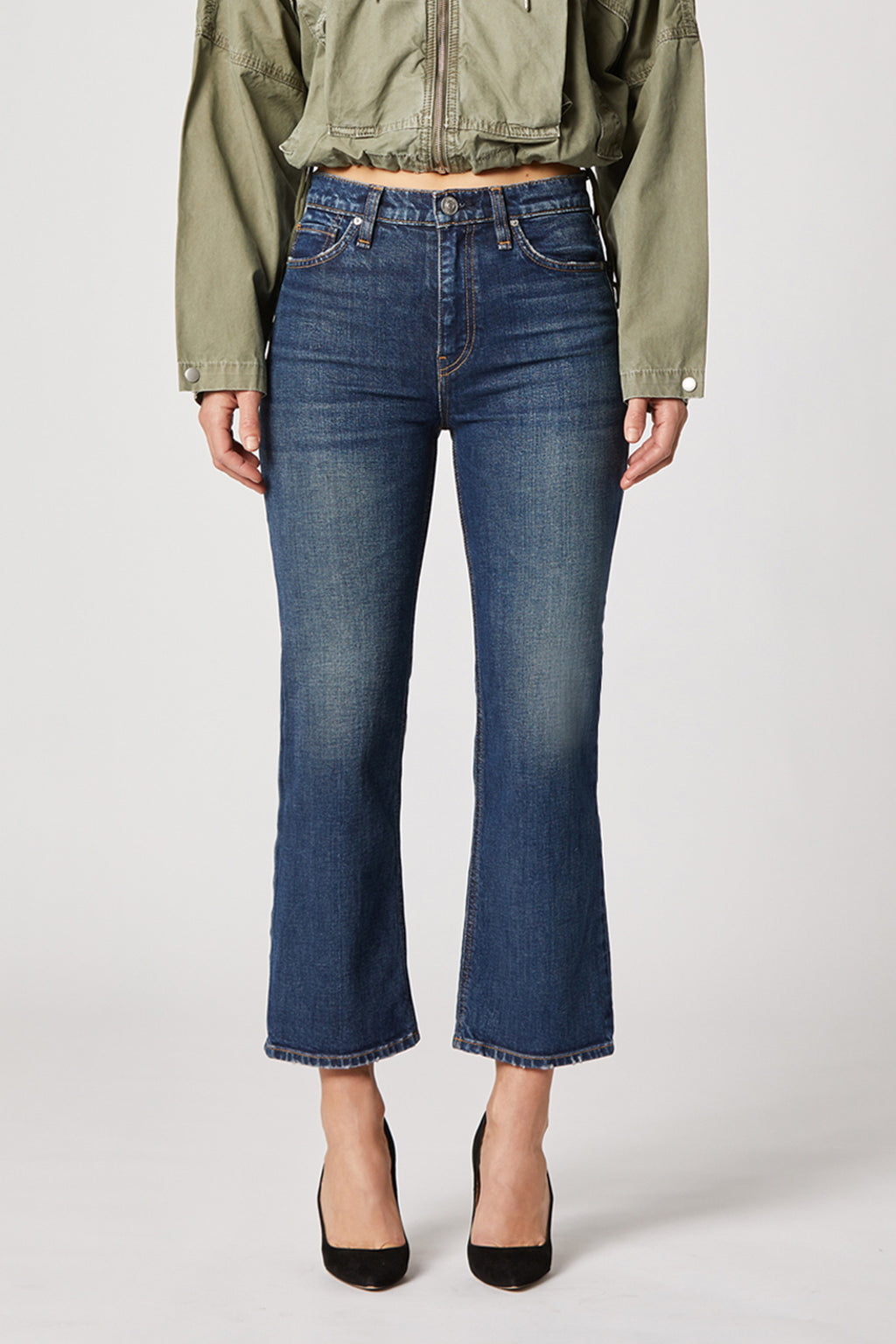 Remi High-Rise Straight Cropped Jean