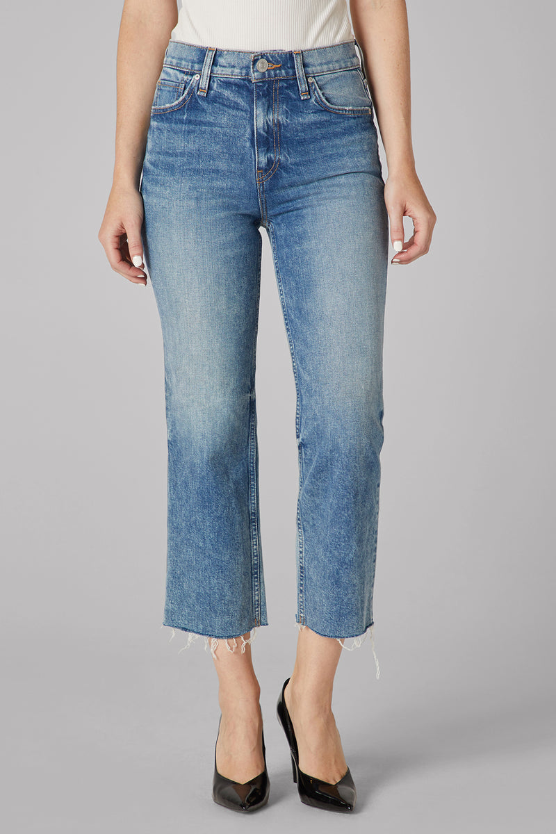 EXPRESS 6 HIGH RISE WHISKERED DENIM RELEASED HEM CULOTTES cropped crop jeans
