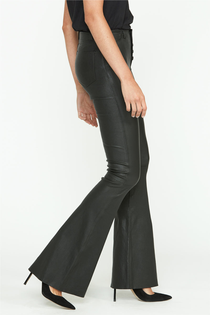 Jodi Flare Leather Pant