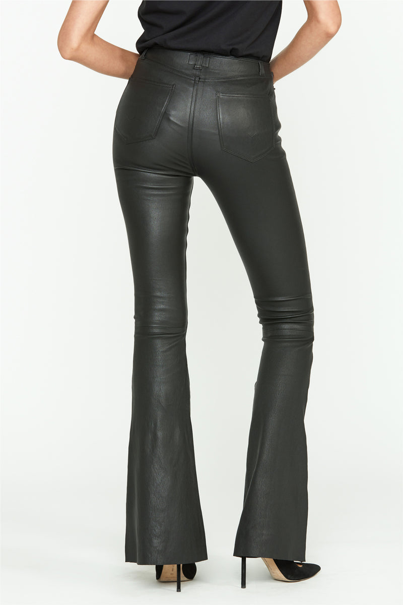 Jodi Flare Leather Pant - hudsonjeans