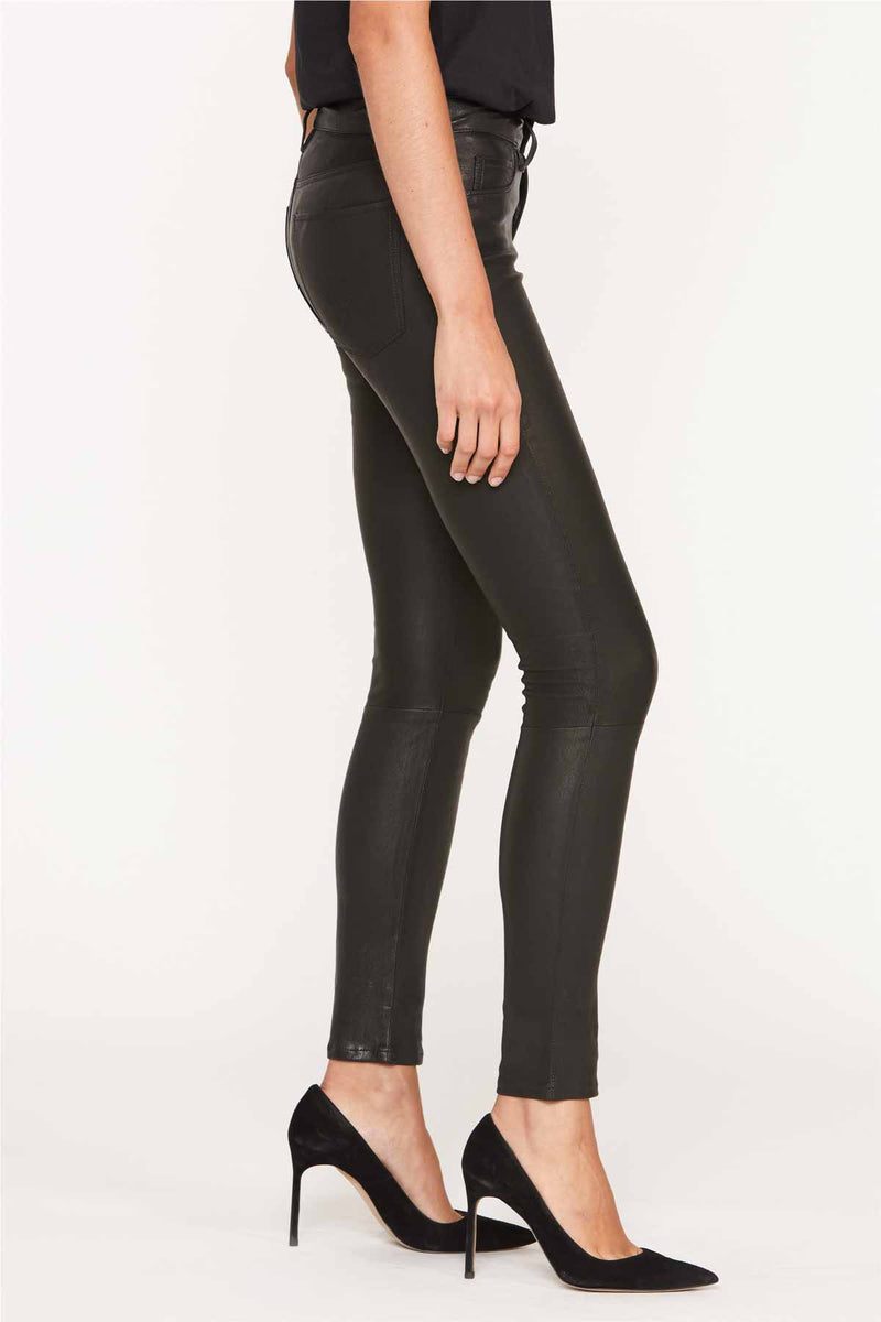 Nico Mid-Rise Super Skinny Leather Pant - hudsonjeans
