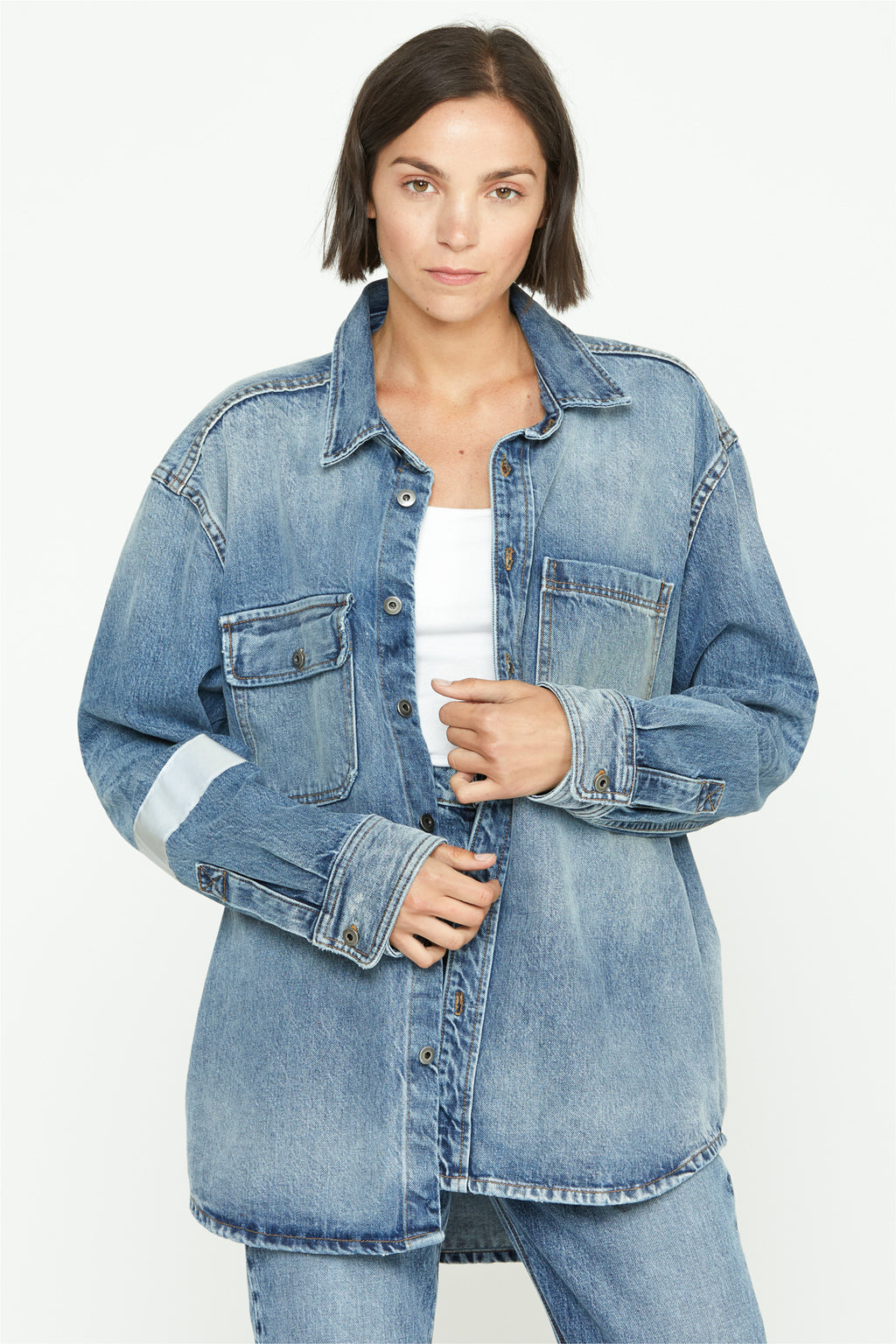 Unisex Oversized Denim Workshirt - hudsonjeans