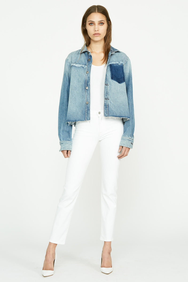 Denim Two-Tone Shirt Jacket - hudsonjeans