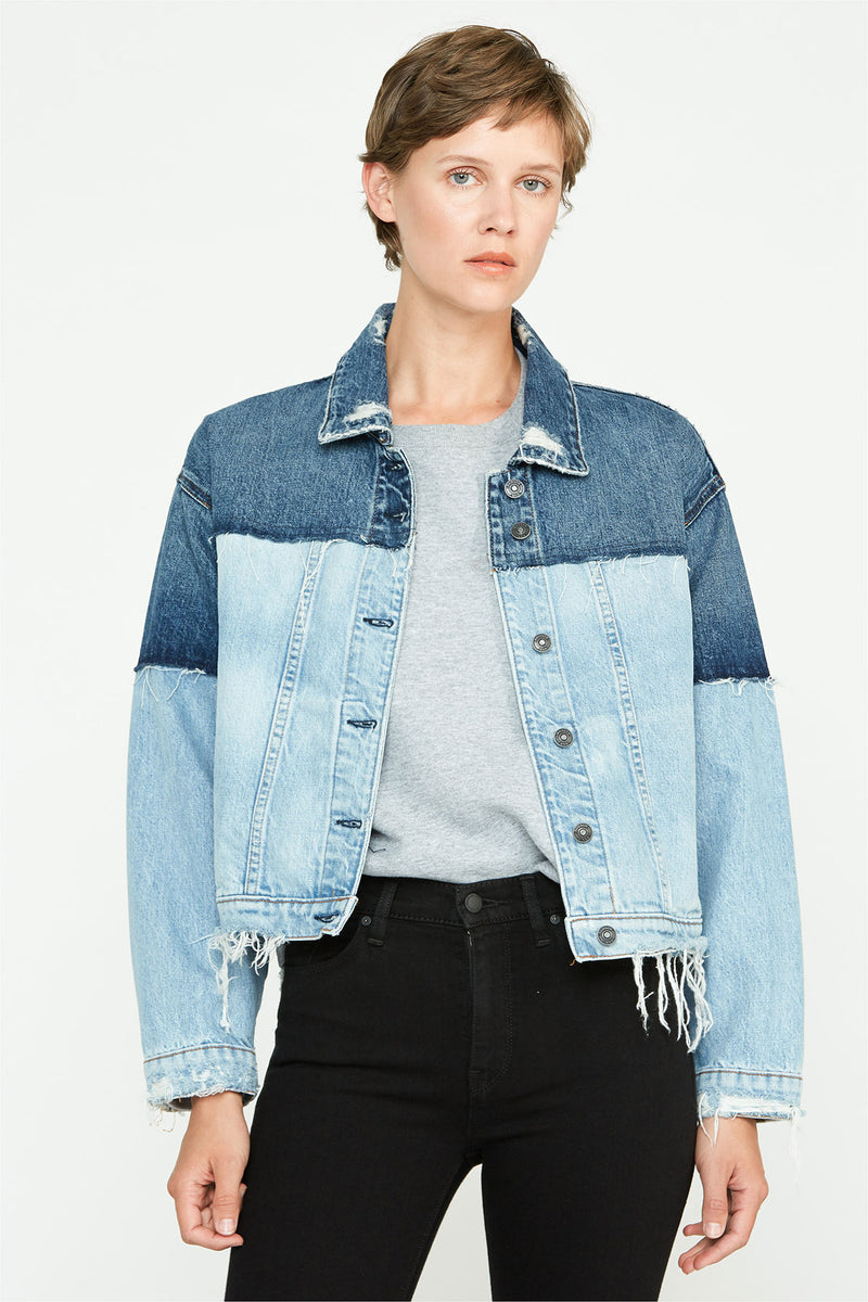 TWO TONE HIGH LOW JACKET - hudsonjeans
