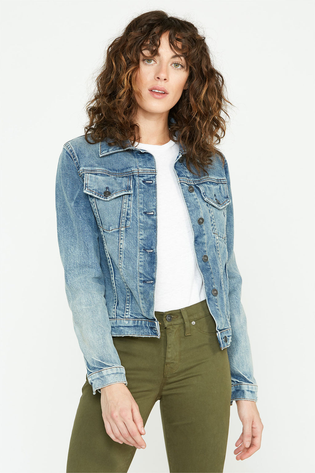 CLASSIC FITTED TRUCKER JACKET - hudsonjeans