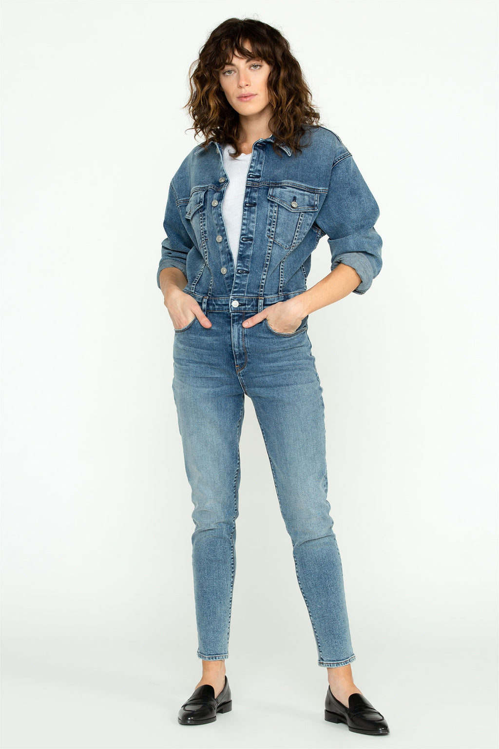 Fitted Long Sleeve Jumpsuit - hudsonjeans