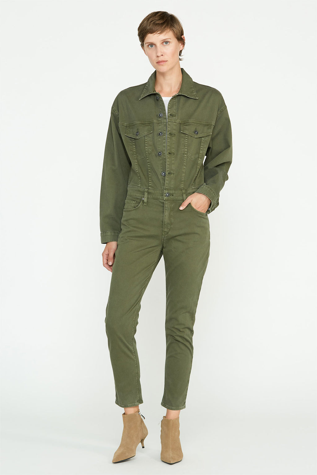 Fitted Long Sleeve Jumpsuit