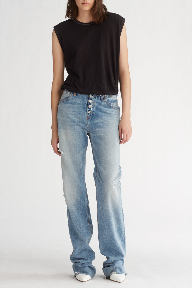 Sloane Baggy Long Denim Skirt