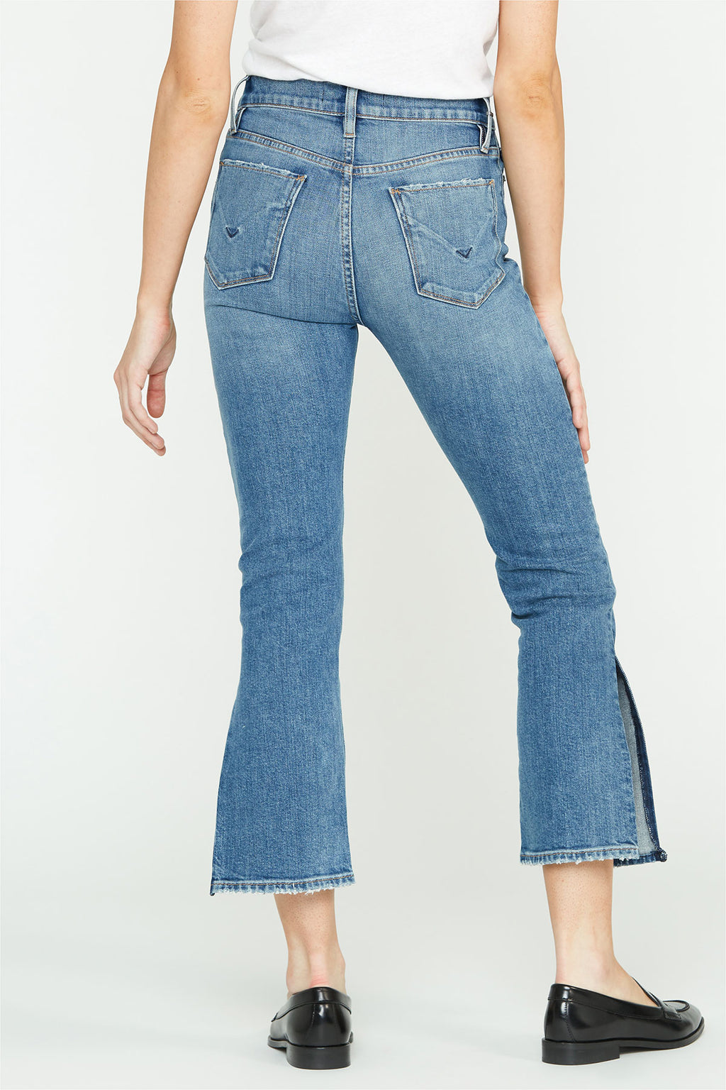 Holly High-Rise Side Slit Straight Crop Jean - hudsonjeans