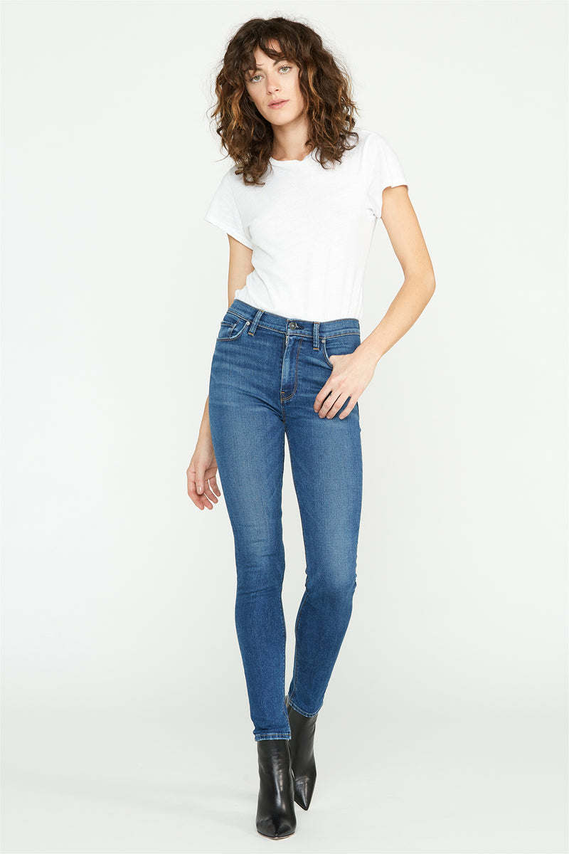 Barbara High-Rise Reverse Panel Super Skinny Jean