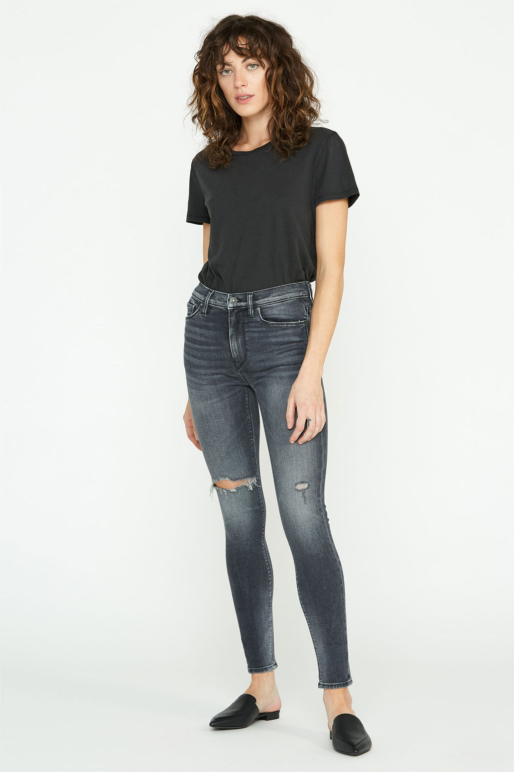 Barbara High-Rise Distressed Super Skinny Ankle Jean