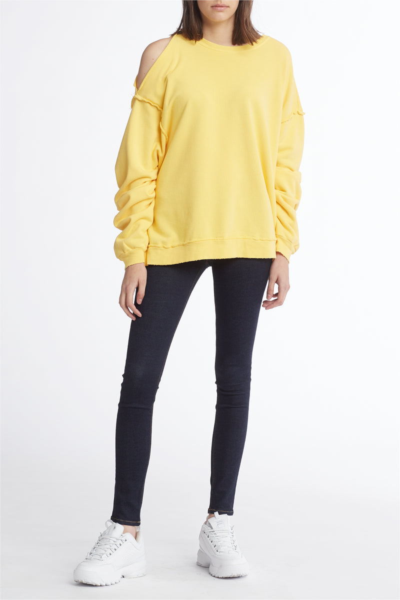 Open Shoulder Sweatshirt
