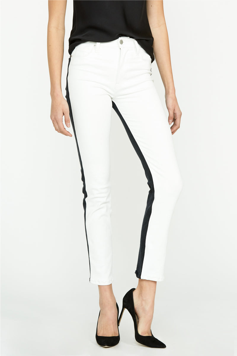Barbara High-Rise Two-Tone Super Skinny Ankle Jean - hudsonjeans