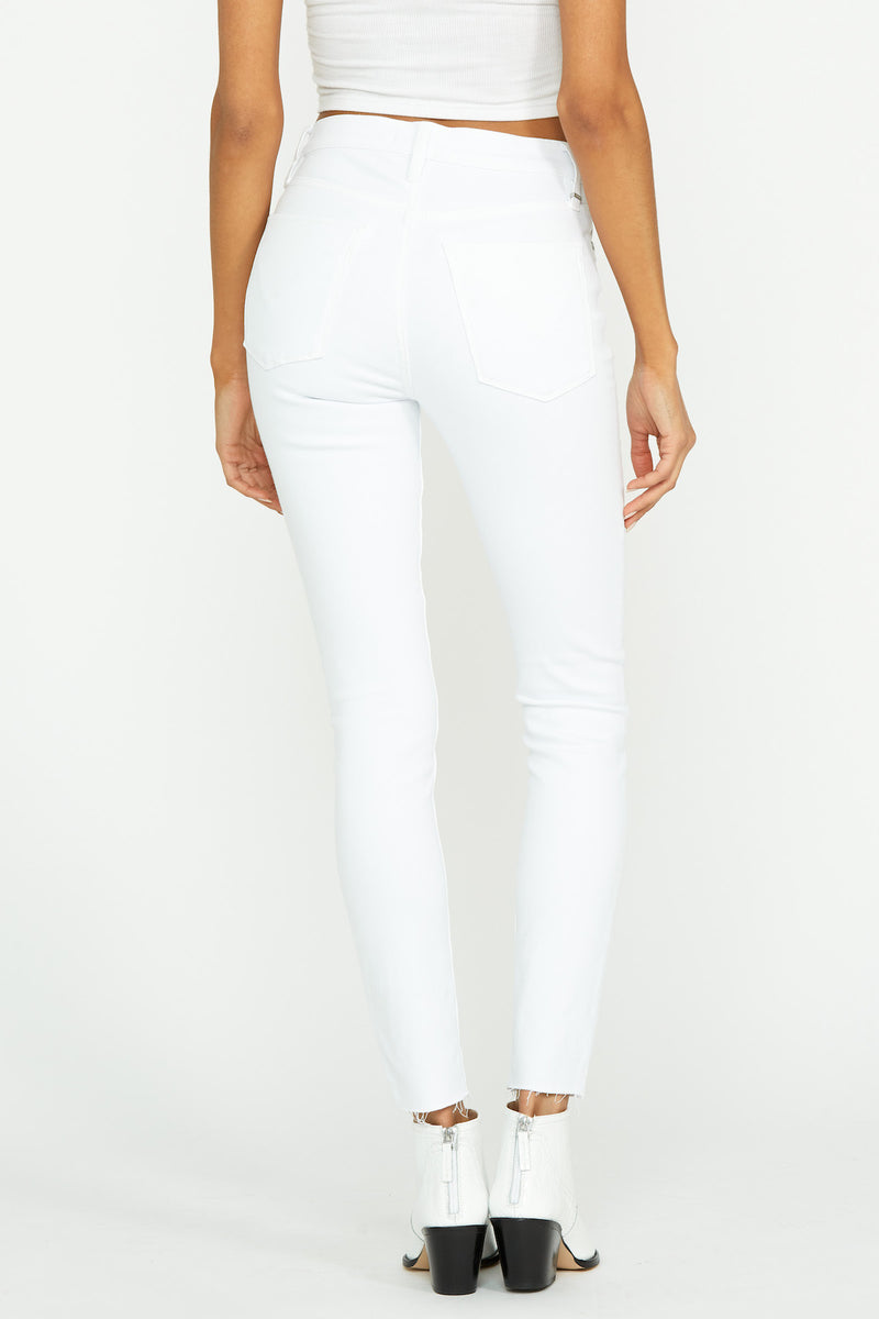 Barbara High-Rise Super Skinny Raw Hem Jean - hudsonjeans