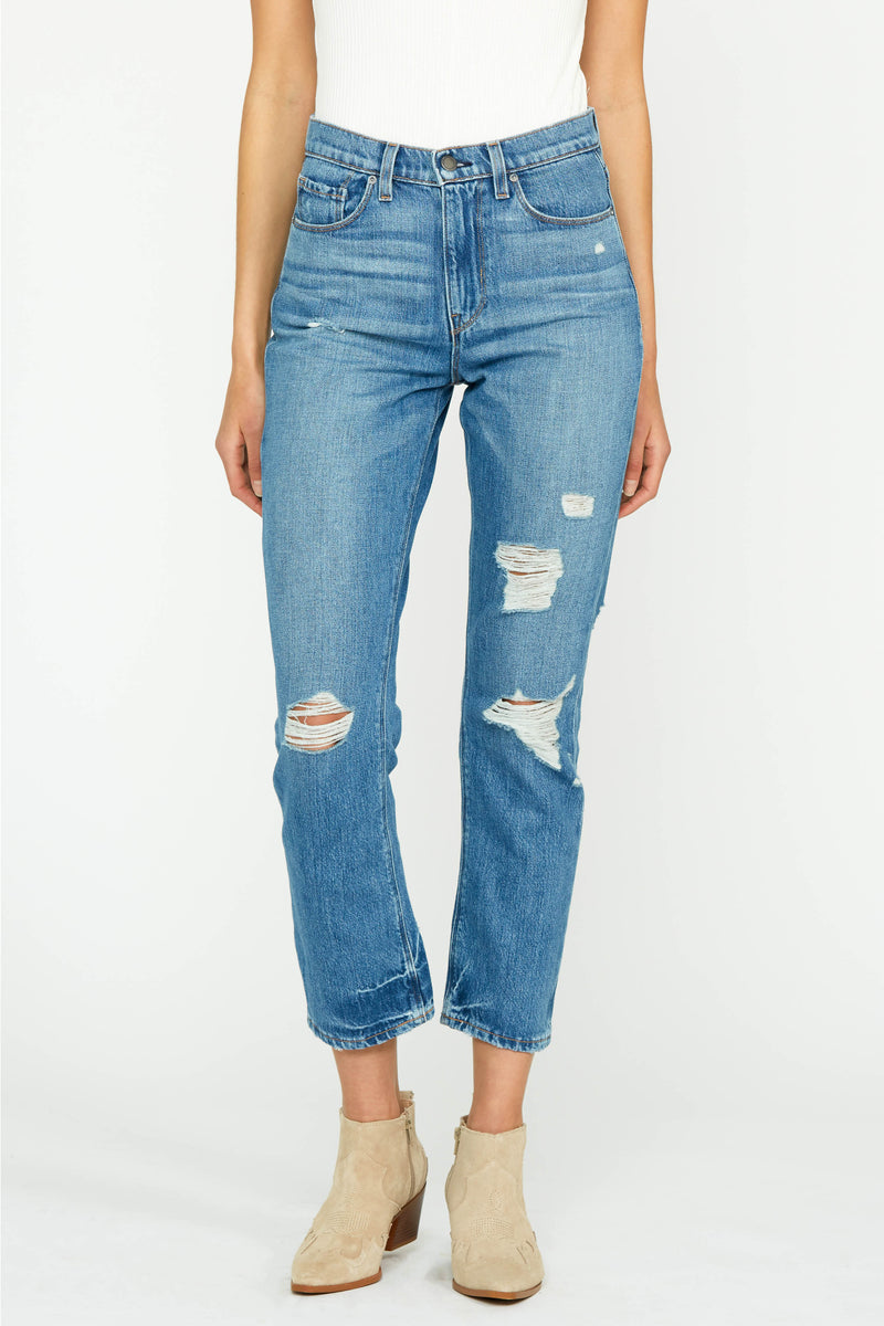 Holly High Rise Straight Leg Jean