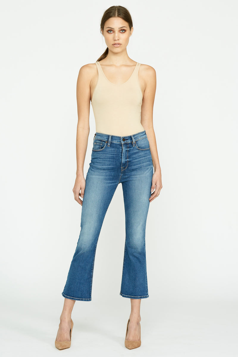 Holly High-Rise Crop Flare Jean - hudsonjeans