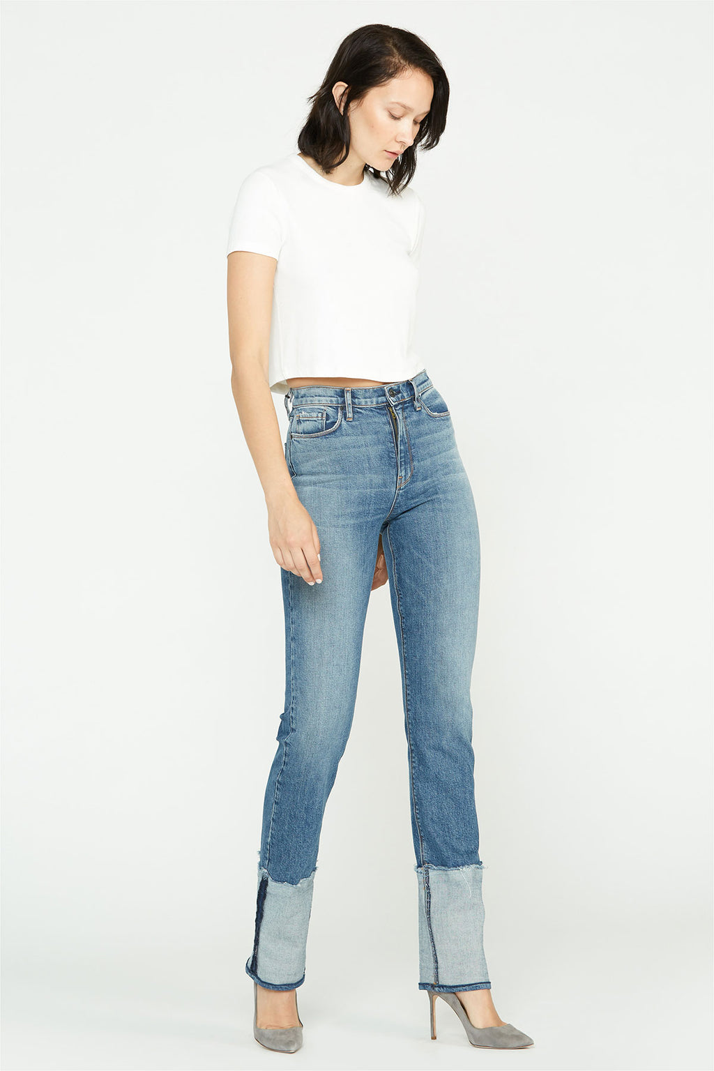 Holly High-Rise Straight Cuffed Hem Jean - hudsonjeans