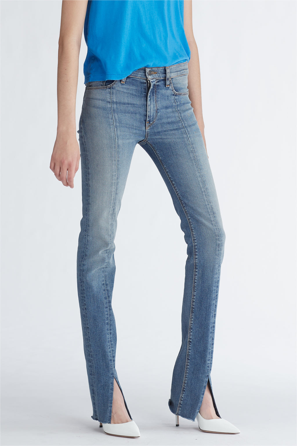 Barbara High Rise Straight Leg Jean