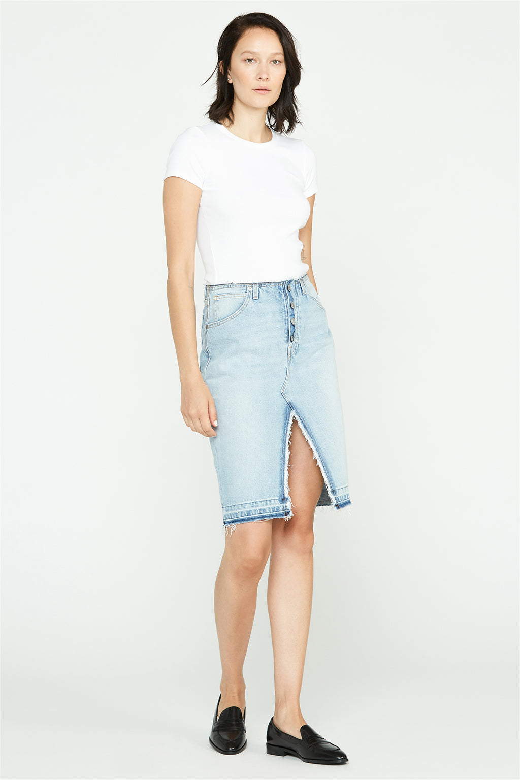 Sloane Baggy Denim Skirt