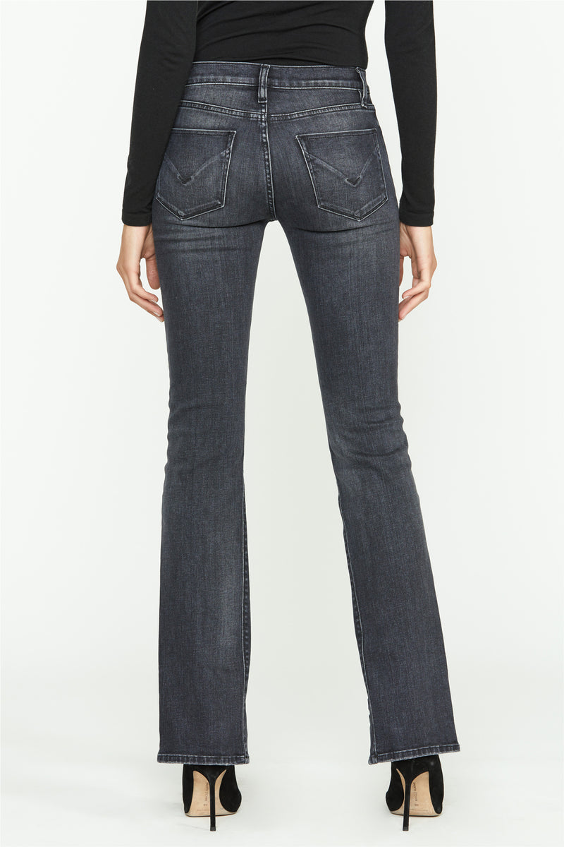 Nico Mid-Rise Front Slit Straight Jean