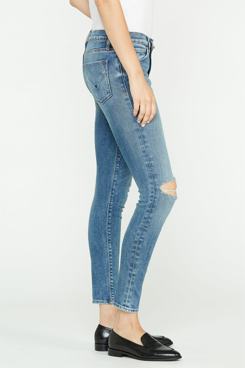 Nico Mid-Rise Distressed Super Skinny Ankle Jean - hudsonjeans