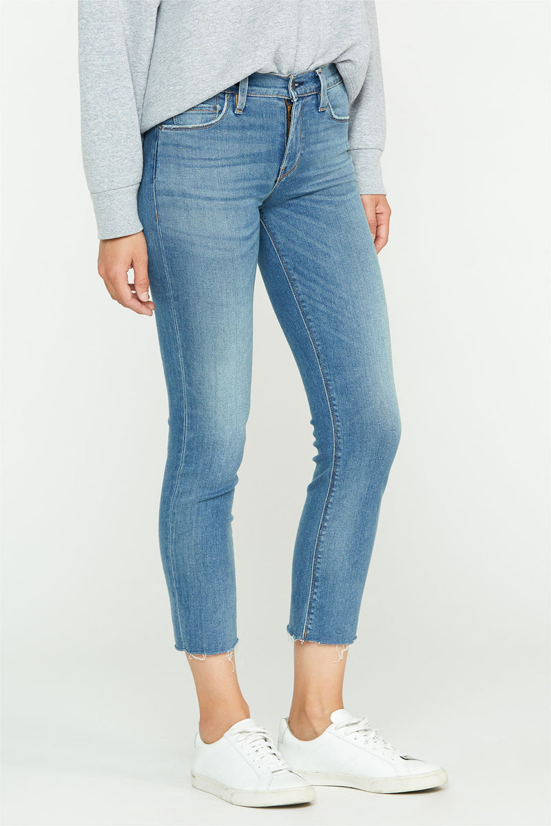 Nico Mid-Rise Straight Raw Hem Ankle Jean - hudsonjeans