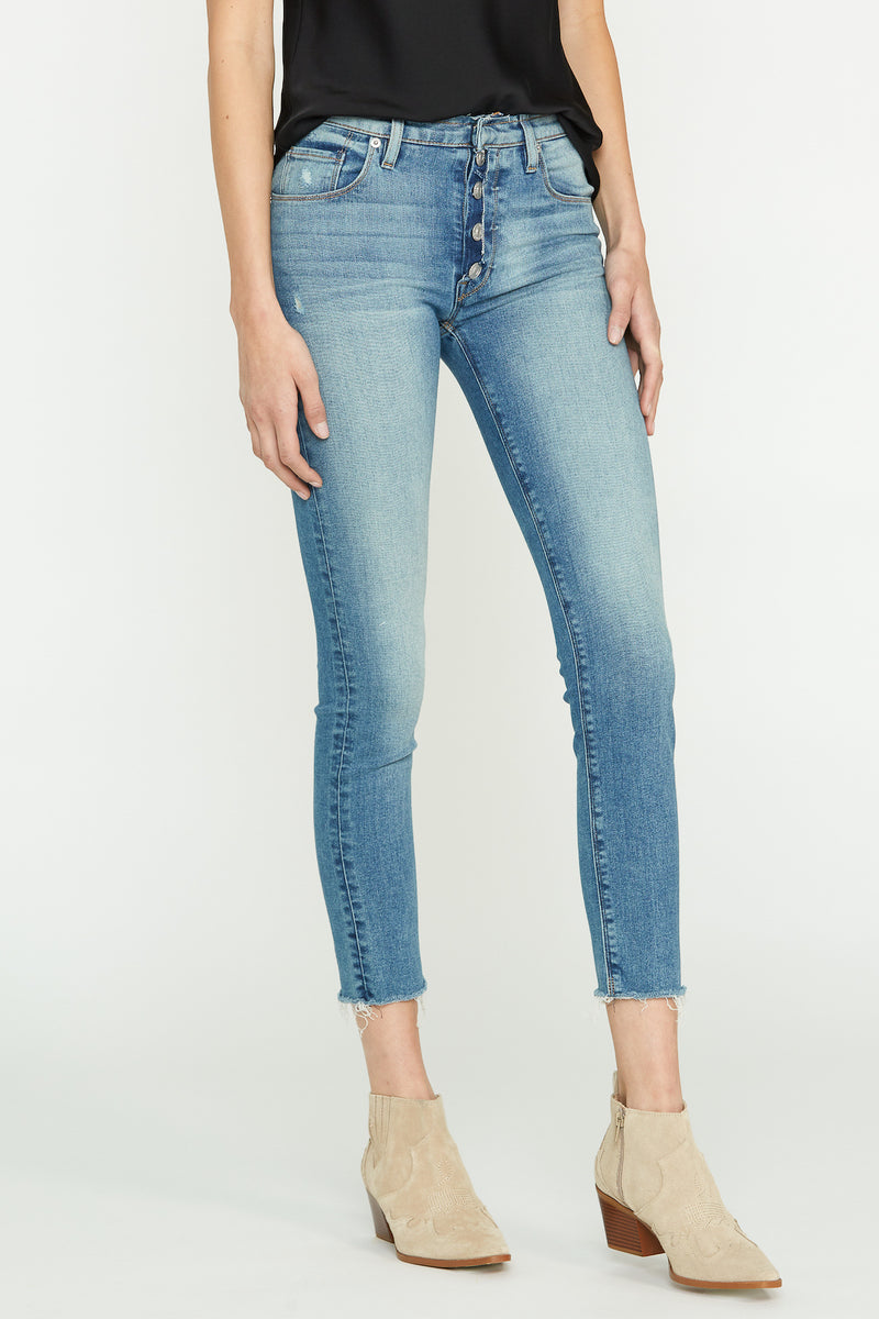 Nico Mid-Rise Exposed Button Fly Super Skinny Jean - hudsonjeans