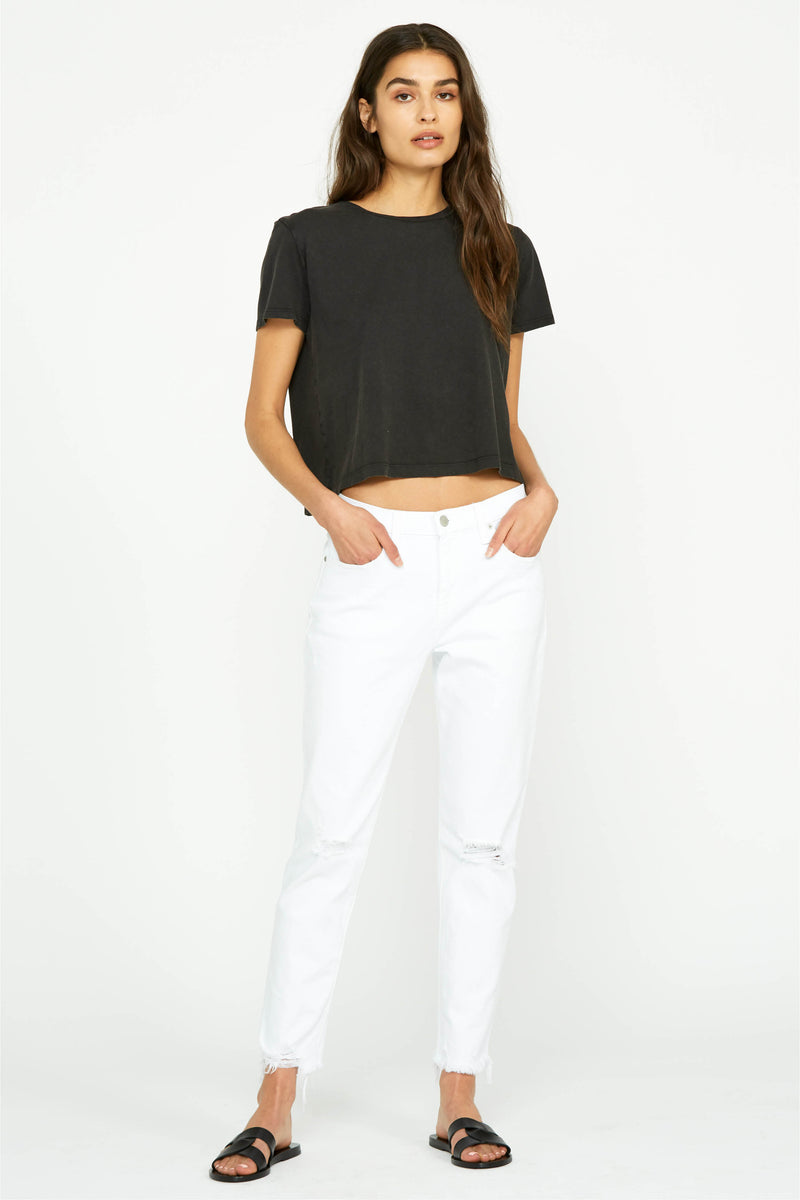 Holly High Rise Crop Flare Jean