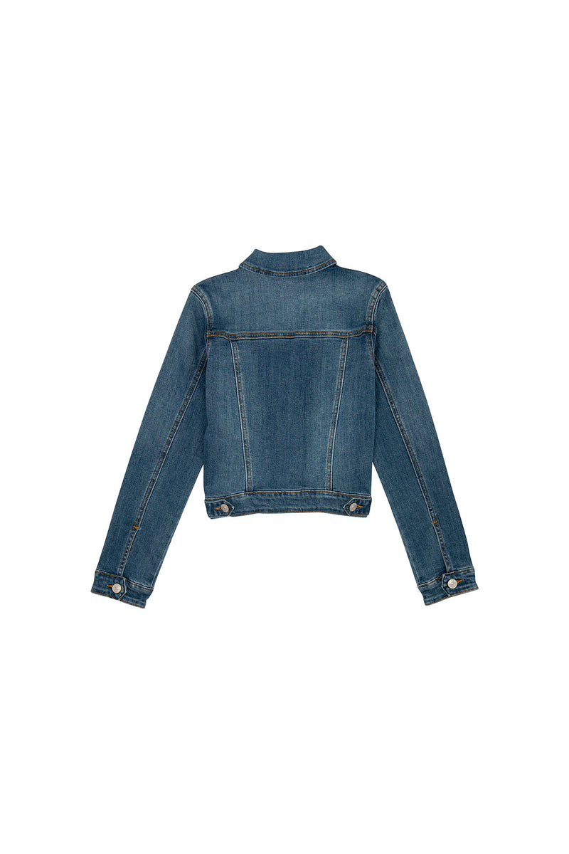 GIRLS JEAN JACKET, SIZES 2T-6X - INDIGO BLUE - Image 2