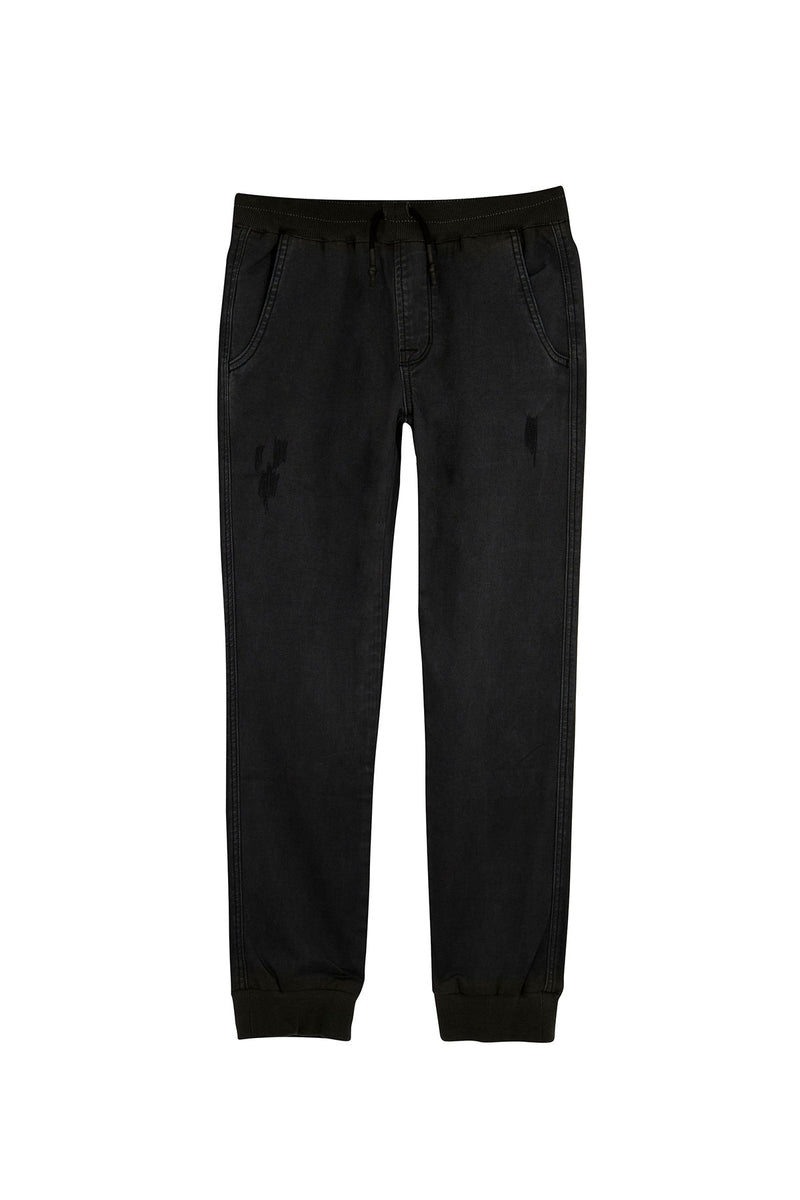 BOYS LUCAS JOGGER, SIZES 2T-7 - LIGHT BLACK - Image 2