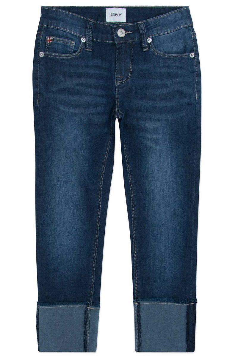 GIRLS JESSA CROP JEAN, SIZES 7-16 - OXFORD BLUE - Image 1