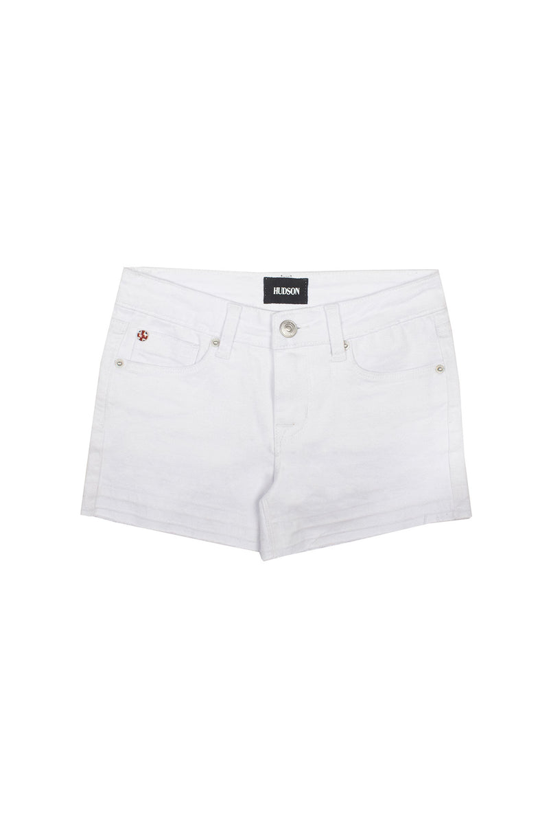 GIRLS AVA SHORT, SIZES 7-16 - WHITE - Image 1