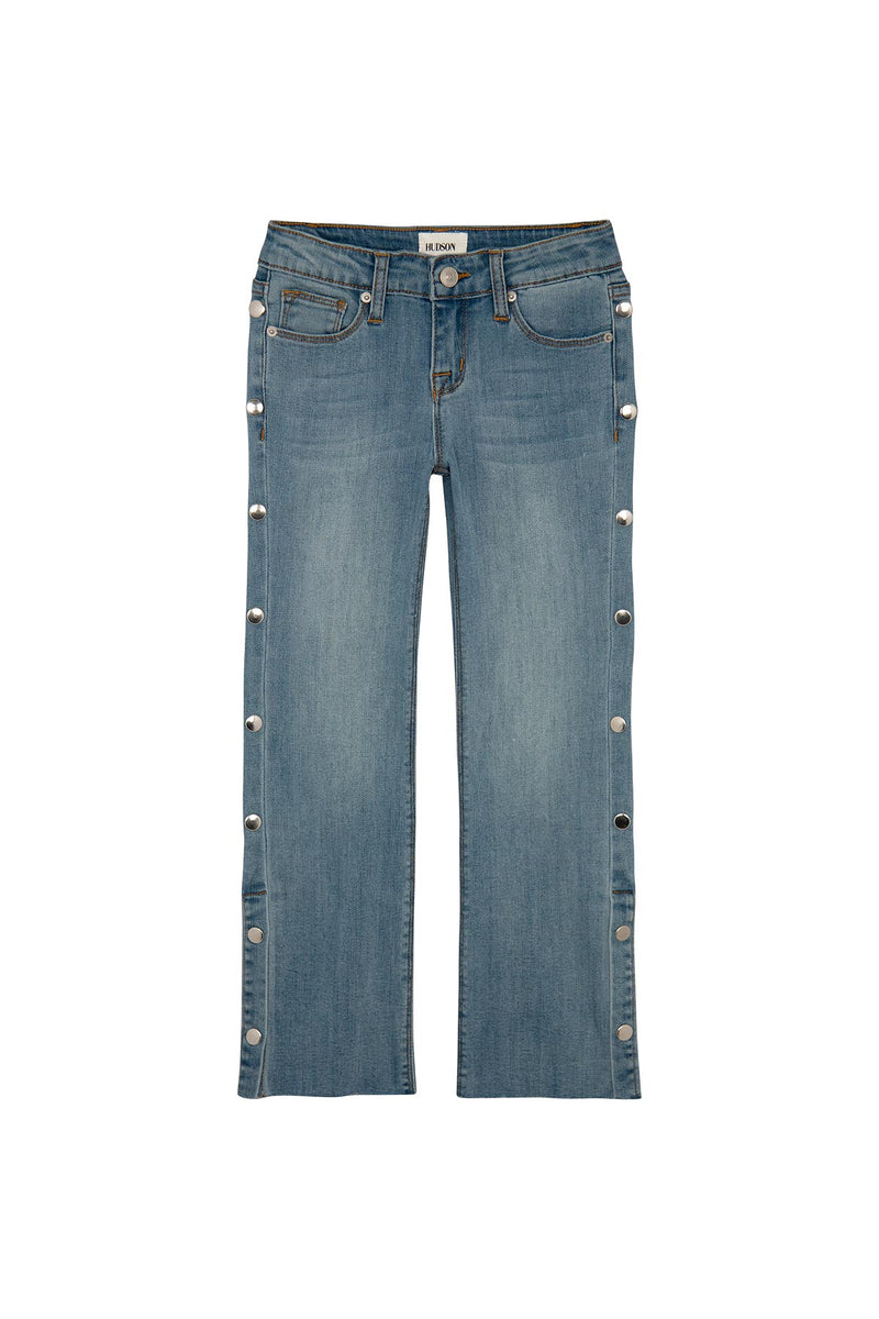 GIRLS SNAPPY CROP JEAN, SIZES 7-16 - FORGET ME NOW - Image 1
