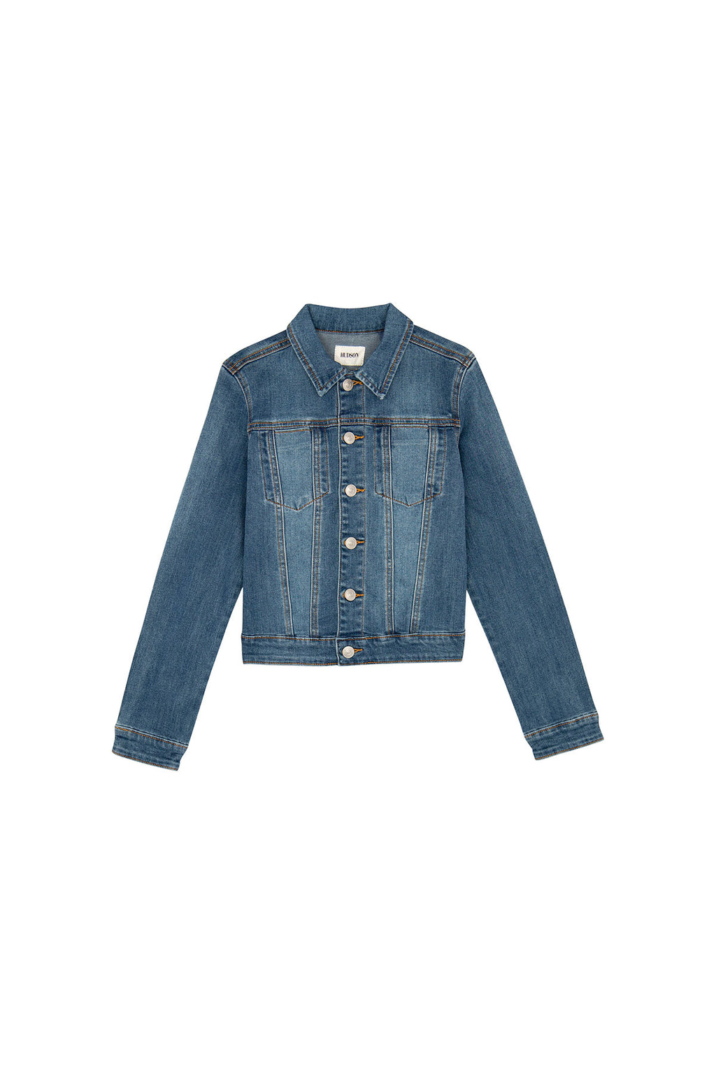 GIRLS JEAN JACKET, SIZES 7-16 - INDIGO BLUE - Image 1