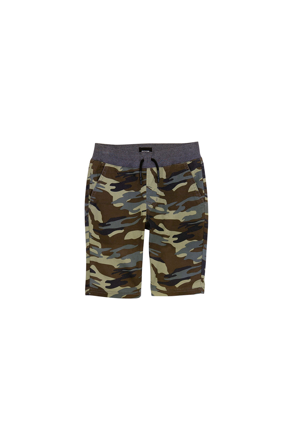 BOYS CAMPBELL SHORT, SIZES 8-20 - OLIVE CAMOUFLAGE - Image 1